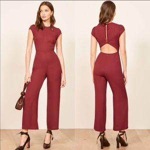Reformation Pants - NEW Reformation Mayer crepe cut out back jumpsuit